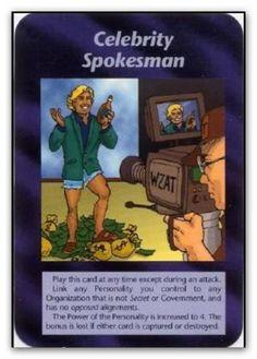 Illuminati Card Celebrity Spokesman