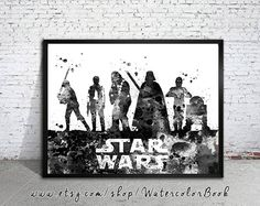 Star Wars Watercolour Painting Print Star Wars by WatercolorBook