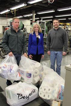 J.L. Clark donates paper goods, cash to Mission