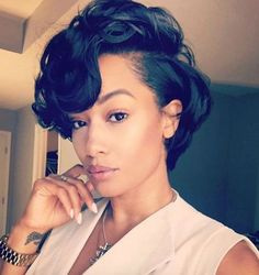 """8"""" Short Wigs For African American Women The Same As The Hairstyle In The Picture - Human Hair Wigs For Black Women"""