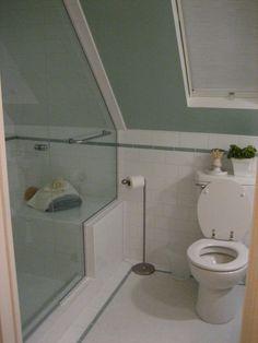 Small bath redo on Pinterest | Slanted Ceiling, Attic Bathroom and ...