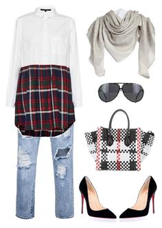 """""""af"""" by ace-finn-nyc on Polyvore featuring French Connection, CÉLINE, Christian Louboutin and Louis Vuitton"""