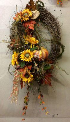 Sunflower Vine Wreath