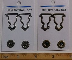 Zipper That Doll - mini overall buckles for dolls - great for American Girl size dolls.