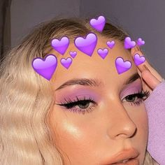 Cute Makeup Looks, Makeup Eye Looks, Eye Makeup Art, Colorful Eye Makeup, Dark Makeup, Eyeshadow Makeup, Cute Eyeshadow Looks, Purple Eyeshadow, Purple Makeup Looks