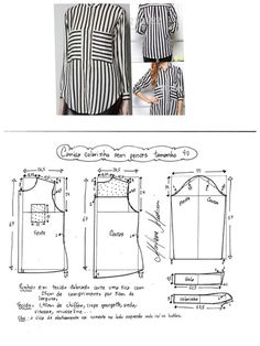 Clothing Patterns Shirt Patterns For Women Blouse Patterns Blouse Designs Free Sewing Sewing Patterns Free Sewing Tutorials Sewing Blouses Top Pattern Dress Sewing Patterns, Blouse Patterns, Sewing Patterns Free, Sewing Tutorials, Clothing Patterns, Shirt Patterns For Women, Costura Fashion, Sewing Blouses, Sewing Pants