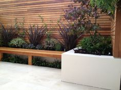 Outstanding Small Gardens London Backyard Design Ideas With Pine Wood Wall White Color Floor Design Idea