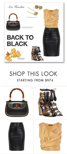 """""""Back to black"""" by bv-b ❤ liked on Polyvore featuring Gucci, Jimmy Choo, xO Design and The Row"""