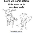 Grade 2 French Immersion Sight Word Assessment Checklist