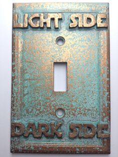 star wars lightdark side light switch cover aged copper