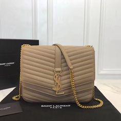 91d66be3b498 Authentic Quality Perfect 1:1 Mirror Replica Saint Laurent Sulpice Beige  Matelassé Leather Small Monogram Bag. Luxury DesignerDesigner BagsChanel Boy  ...