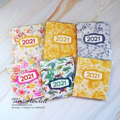 2021 Desktop Calendars – Wrap Up | Swimming In Stamps Calendar Pages, Desktop Calendars, Calendar Ideas, Glue Dots, Holiday Tables, Embossing Folder, New Beginnings, Thank You Cards, Stampin Up