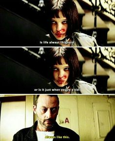 Leon: the professional ART - Leon and Mathilda Best Movie Quotes, Film Quotes, Series Movies, Movies And Tv Shows, Tv Series, Pulp Fiction, Natalie Portman Leon, The Professional Movie, Leon The Professional Mathilda