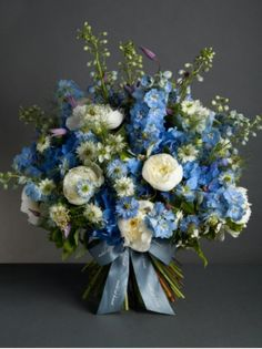 Summer Sky bouquet - NEW summer collections @ Nikki Tibbles Wild at Heart #PimlicoRd