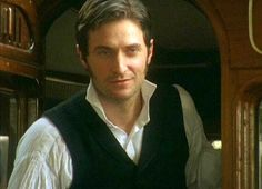 Mr. Thornton sees Margaret at the train station and smiles... and I die. Ladies, if you can watch this without a tingle, you are dead...