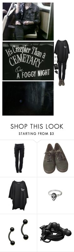 """""""sure you're scared, ive been there"""" by ghostboyyyy ❤ liked on Polyvore featuring Balmain, Vans, Delfina Delettrez and Urbanears"""