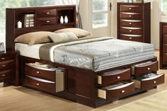 Generation Trade Ridgemont Queen Size Platform Bed with Storage 165430