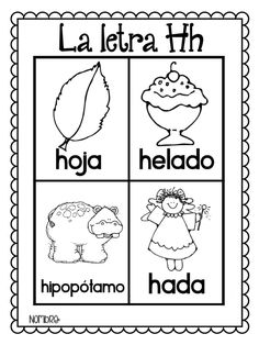 Coloring Page 2018 for Palabras Con H Para Colorear, you can see Palabras Con H Para Colorear and more pictures for Coloring Page 2018 at Children Coloring. Preschool Spanish, Spanish Activities, Teaching Spanish, Spanish Words, How To Speak Spanish, Learn Spanish, Spanish Basics, Spanish Class, Spanish Posters
