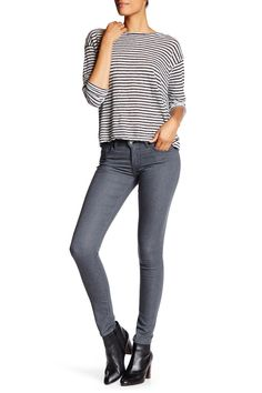 711 Skinny Heather Dark Gray Jean
