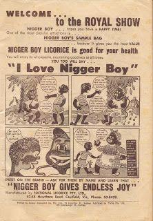 Vicious racist ad - Nigger Boy Licorice