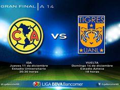 El torneo Apertura 2014 de la Liga Mx ha llegado a su fase final y ya están listos los 2 equipos finalistas.Será final inédita entre los Tigres y el América, Quién se quedará con el título? Visita Linio México y encuentra lo mejor en deportes. http://www.linio.com.mx/deportes/