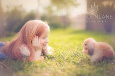 "http://learnshootinspire.com/ ""one a day"" winner by Cayden Lane Photography on Facebook! #child #bunny #photography"