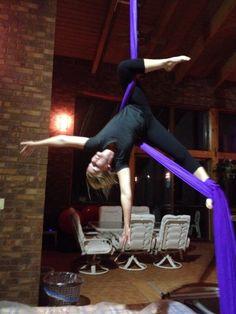 Aerial Silks: Good stretch!