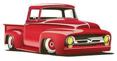 Drawing of a 1956 Ford F100...Just add whitewalls!