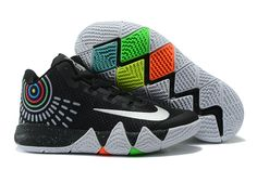 2017 New Nike Kyrie 4 Black White Grey Shoes