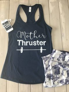 Mother Thruster Tank Crossfit Tank Womens Workout Tank women beauty and make up Crossfit Tanks, Crossfit Humor, Crossfit Motivation, Funny Crossfit Shirts, Crossfit Gifts, Funny Gym, Gym Humor, Workout Humor, Motivation Quotes