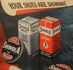 1940s SHINOLA Shoe Polish vintage illustration advertisement