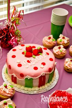 You searched for strawberry hortcake 1st Bday Cake, 2nd Birthday, Birthday Ideas, Fancy Cakes, Cute Cakes, Cake Cookies, Cupcake Cakes, Strawberry Shortcake Birthday, Occasion Cakes