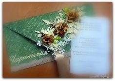 kopertówka / decorative envelope  zaproszenie