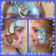 Face Painting Kit for Kids with Glitter and Bonus Ebook with Video Directions and Printable Face Paint Ideas Face Painting For Boys, Face Painting Designs, Body Painting, Frozen Favors, Frozen Theme, Frozen Face Paint, Christmas Face Painting, Clown Faces, Theme Noel
