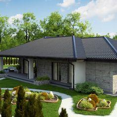 Z279 to wyjątkowy dom z kategorii projekty domów do 150 m2 House Layout Plans, House Layouts, Beautiful House Plans, Beautiful Homes, House Front Design, Exterior, Outdoor Decor, Facade House, Home Decor