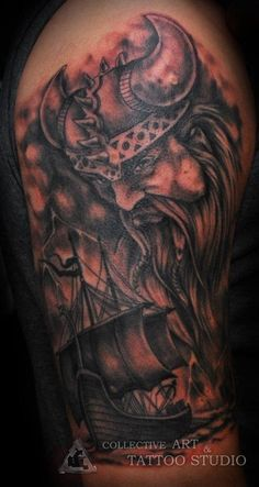 Viking tattoo by Zanda  www.collectivearttattoostudio.com