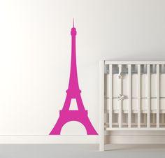 Paris Decor Eiffel Tower Wall Decal  Girls Shabby Chic Nursery, urban apartment , modern vinyl art