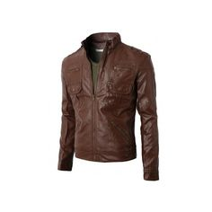 Mens Synthetic Leather Rider Jacket With Zipper Details At Pocket... ($70) ❤ liked on Polyvore featuring men's fashion, men's clothing, men's outerwear, men's jackets, men, coats, mens rider jacket, mens faux leather motorcycle jacket, mens fake leather jacket and mens faux leather jacket