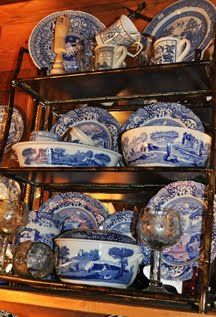 TO my family and friends:  I would love any or all of this for my birthday.  Thank you.  Spode blue and white transferware