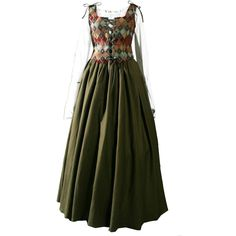 Medieval Dress ❤ liked on Polyvore featuring dresses, medieval, costume and gowns