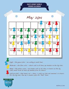Dad's May 2014 Disney World Crowds Calendar
