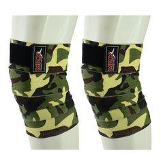 weight lifting knee wraps camo green1