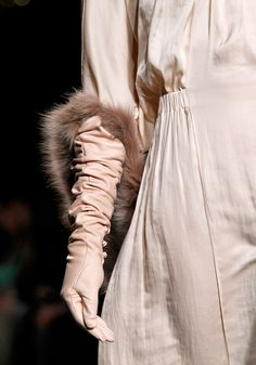 Fabulous nude gloves from Nina Ricci Fall 2012