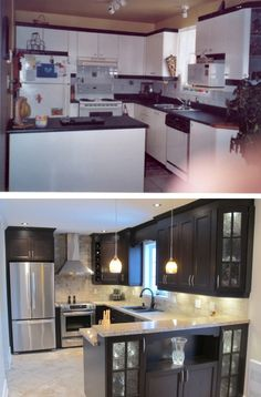 Before and After Kitchen Remodeling - Sebring Services - eyemakeup Miller House, Home Upgrades, Home Renovation, Home Remodeling, Kitchen Remodeling, Before After Kitchen, Kitchen Storage Solutions, Kitchen Redo, Home Staging