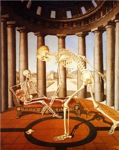 The skeleton has the shell - Paul Delvaux