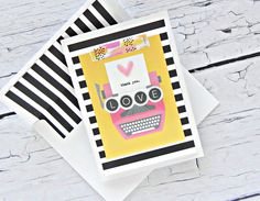 Illustrated Faith Bright & Brave Collection | Thank You Love card by Stephanie Buice