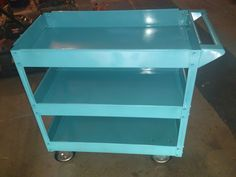 $40 cart from harbor freight, spray painted teal.
