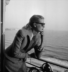 Grace Kelly at her room in the Carlton Hotel. Cannes Film Festival   1955.