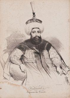 Gravure of Sultan Mahmud II. | par OTTOMAN IMPERIAL ARCHIVES