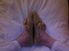 Amy March's Slippers by tinyowlknits, via Flickr